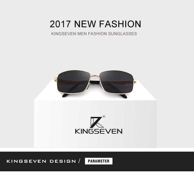KINGSEVE Brand rectangular sunglasses male and female neutral sunglasses retro sunglasses with polarized lenses uv 400 1