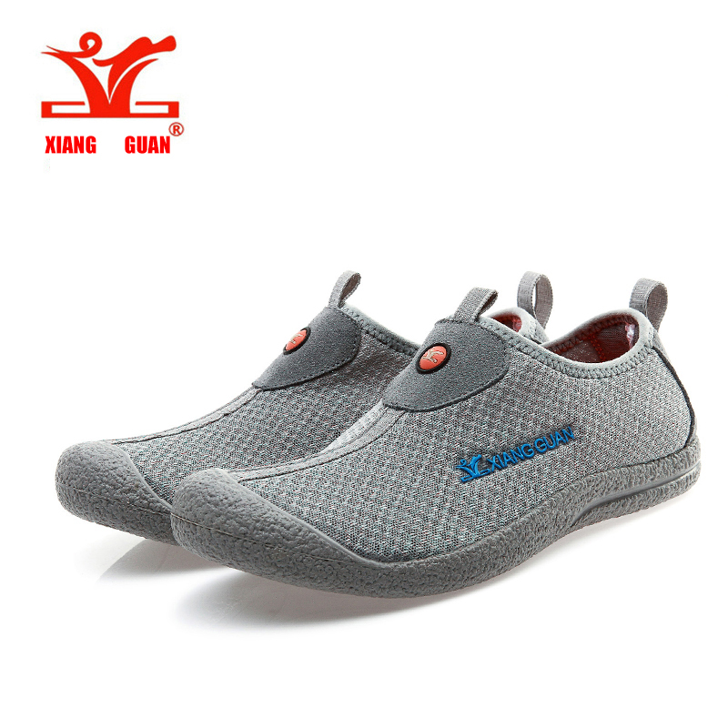 XiangGuan aqua shoes summer light mesh fabric breathable outdoor walking shoes women sport shoes climbing mountain