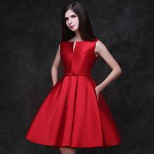Elegante Cocktailkleider 2017 Sleeveless a-ine Mit Bogen Kurze Party Kleider Benutzerdefinierte Vestidos De Fiesta Graduation Dresses