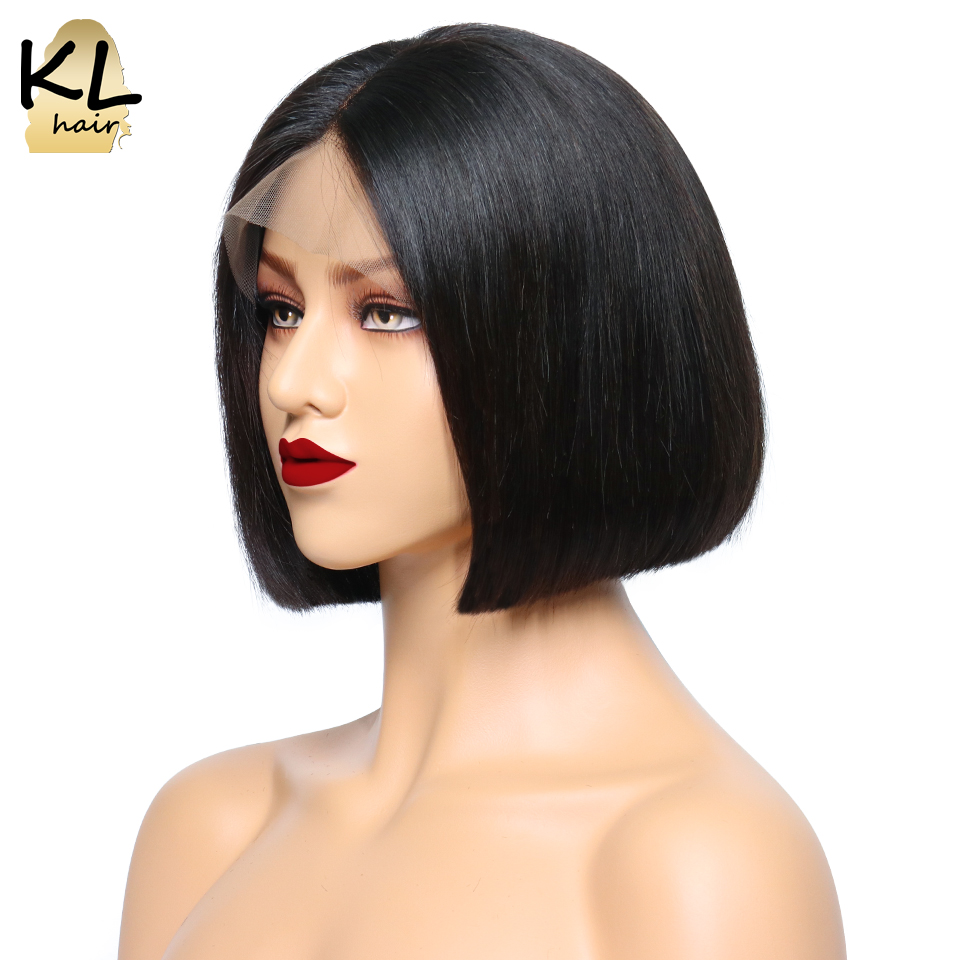 KL Hair 13x6 Deep Part Lace Front Human Hair Wigs For Black Women Pre Plucked Brazilian
