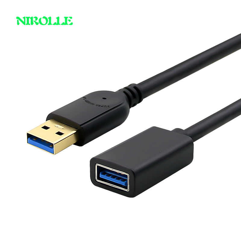 USB Extension Cable Cord Super Speed USB 3.0 Cable Male to Female Data Sync USB Extender Extension Cable 1m 2m 3m computer cable 1 5m 3m black high speed data transfer usb 2 0 male to male scanner printer cable sync data charging wire cord for dell hp canon