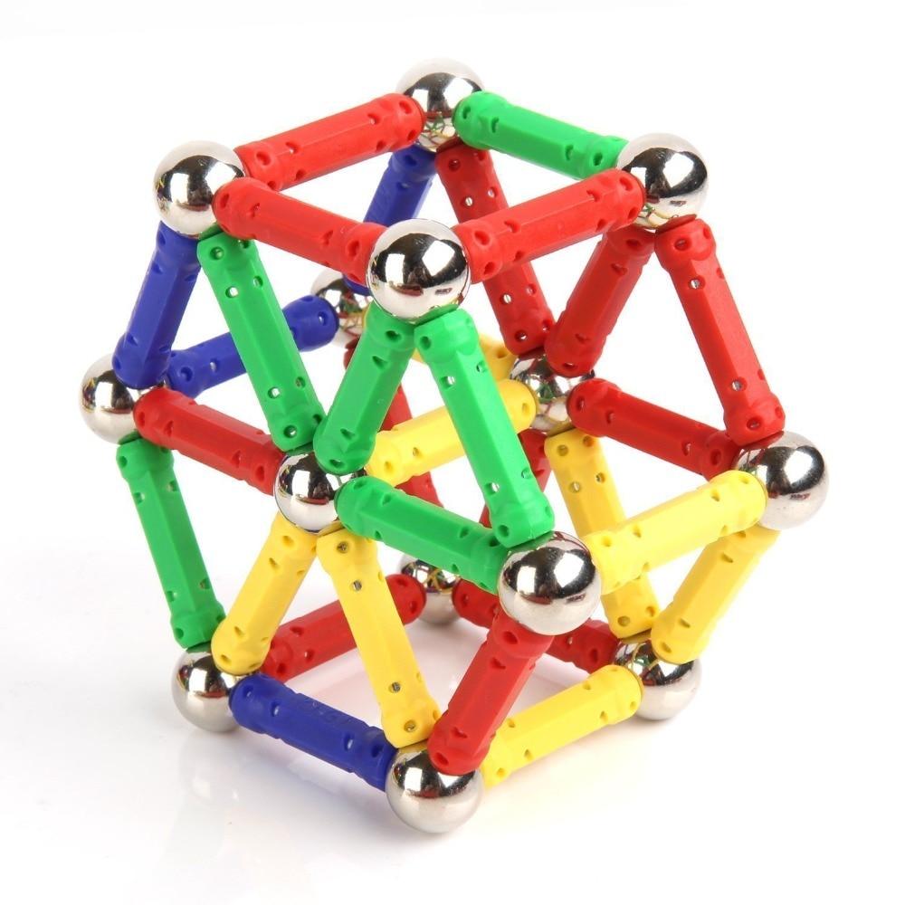 100pcs Magnet Toy Sticks Metal Balls Magnetic Building