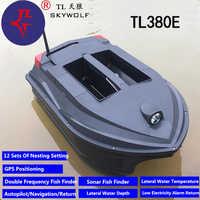 Professional Auto Return GPS Sonar Bait boat Fishing Finder TL-380E GPS Auto Cruise Wireless Control RC Fishing Boat VS JABO 5CG
