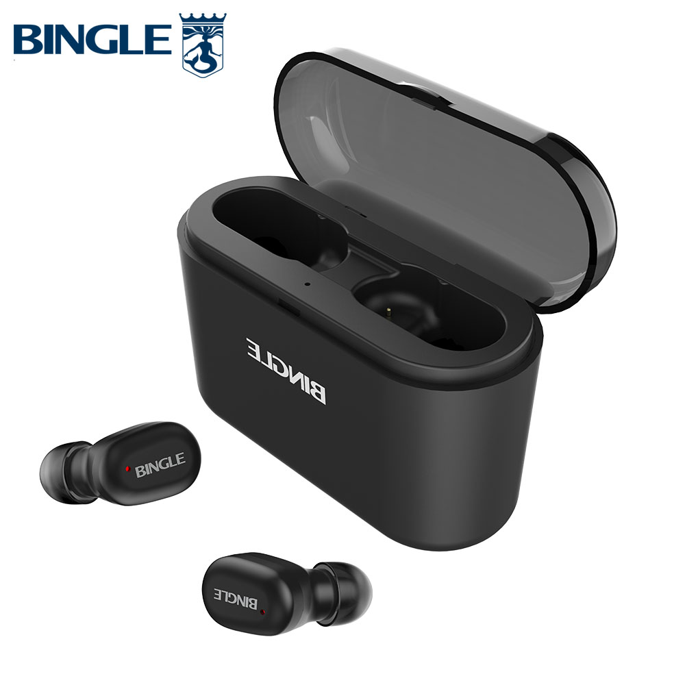 Bingle K7 étanche AAC Active suppression de bruit téléphones tête BT 5.0 TWS vrais écouteurs sans fil mains libres Bluetooth écouteurs