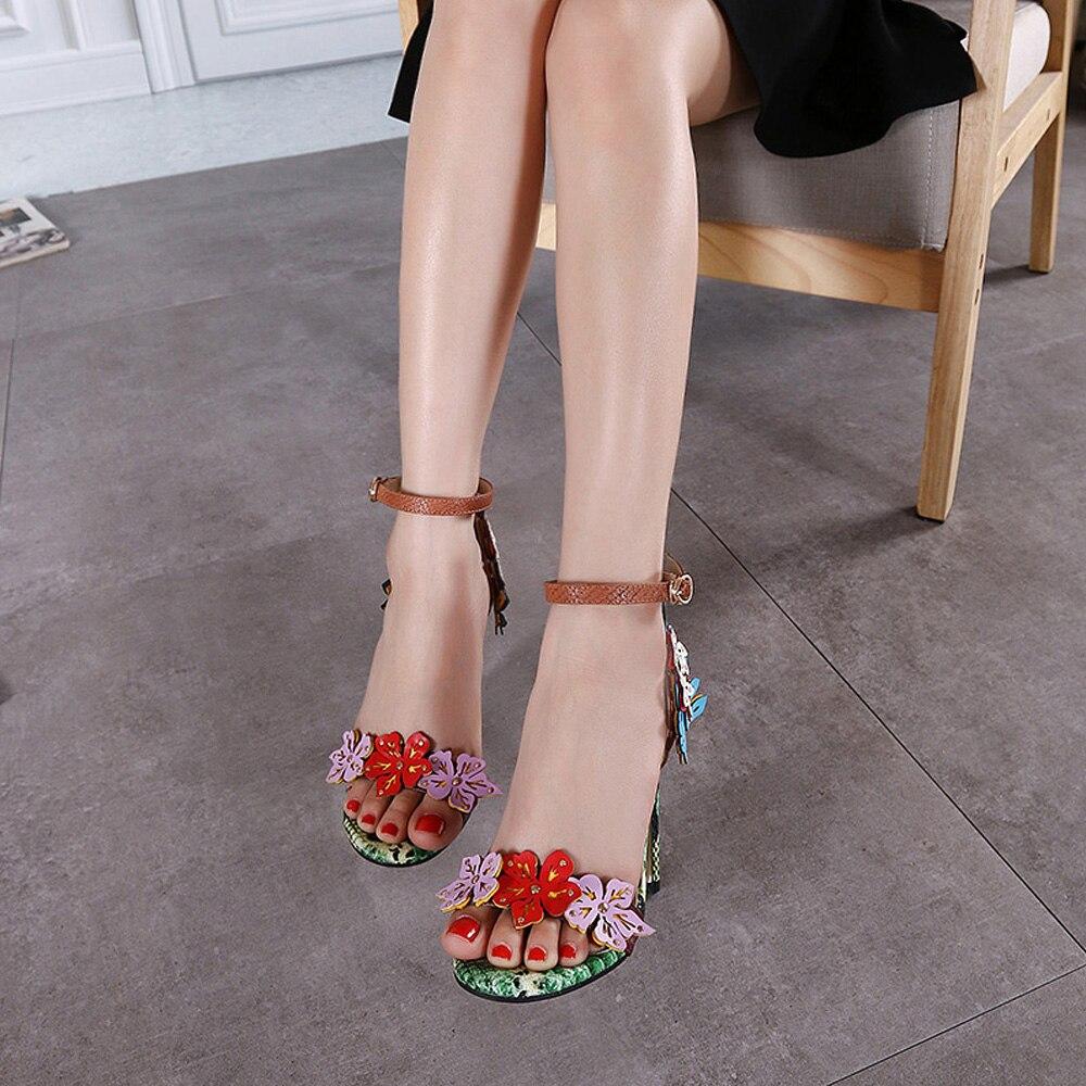 Alto Partido 2018 Tobillo Talón Color 11 Photo Nuevo Zapatos Sandalias Hermosas Appliques Vestido Verano Cm De Correa Gladiador Textura Serpiente Swq5TqAx