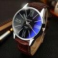Luxo couro relógios yazole homens moda à prova d' água relógio de quartzo ocasional vestido hora relógio de pulso para homens de negócios masculino op001