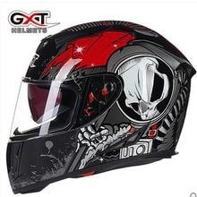 NOUVEAU Véritable Haute Qualité GXT plein visage casques hiver chaud double visière moto casque Casco Moto capacete