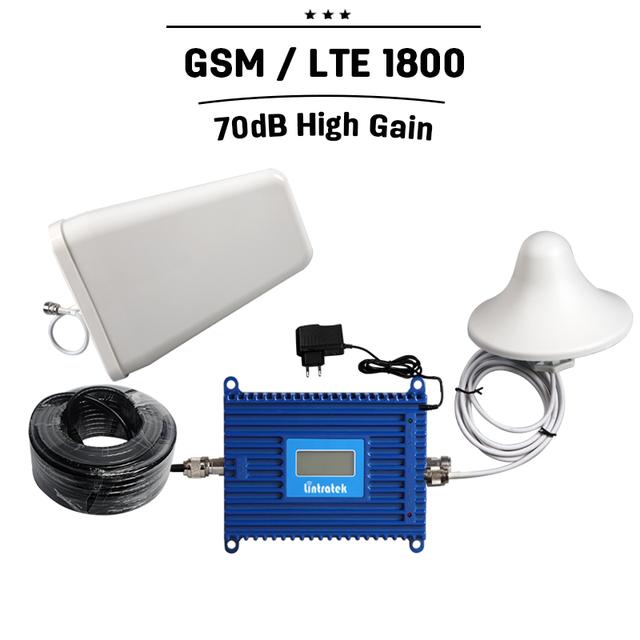 Display LCD 20dBm GSM 1800 Sinal De Celular Repetidor de Reforço de Sinal de Telefone Celular DCS ALC GSM 1800 MHZ Amplificador Celular + antena