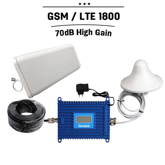 LCD Display 20dBm GSM 1800 Mobile Signal Repeater DCS Cell Phone Signal Booster ALC GSM 1800MHZ Cellular Amplifier + Antenna