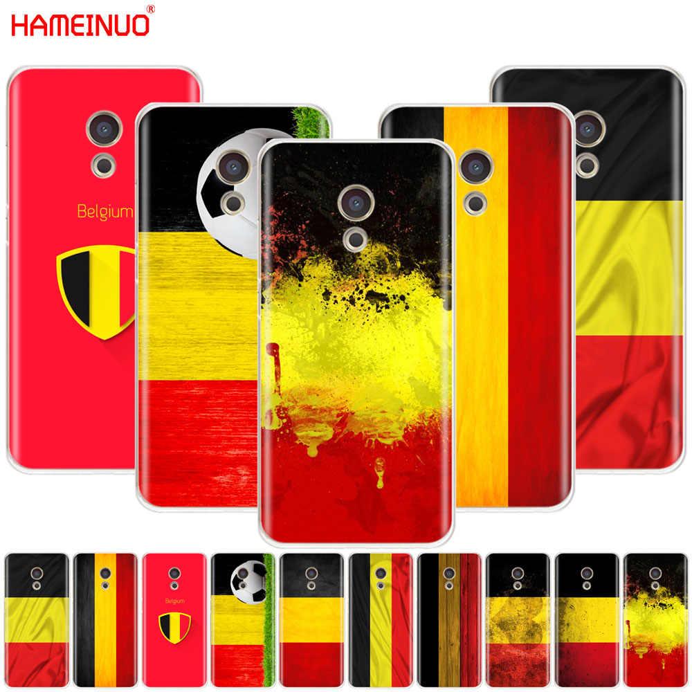 HAMEINUO Bélgica Bandera de lujo de alta-Protector de la caja del teléfono para el Meizu M6 M5 M5S M2 M3 M3S MX4 MX5 MX6 PRO 6 5 U10 U20 nota plus