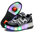 NEW 2016 Children Shoes With ONE AND TWO Wheels Roller Skates LED Fashion Kids Sneakers For Boy & Girls