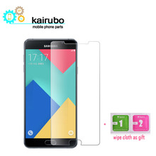 10PCS/LOT Tempered Glass For Samsung Galaxy A7 2016 Full cover Screen Protector A710 glass Film