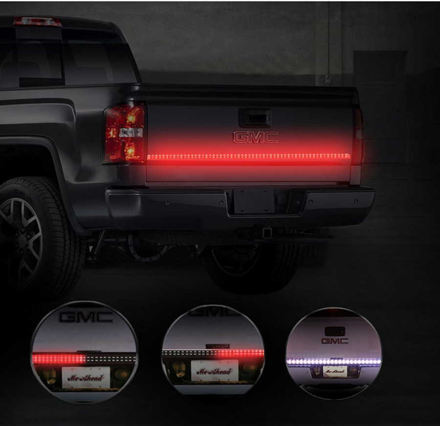 48 2 row led truck tailgate light bar strip redwhite reverse stop 48 2 row led truck tailgate light bar strip redwhite reverse stop turn signal running for pickup suv rv trailer in car light assembly from automobiles aloadofball Gallery