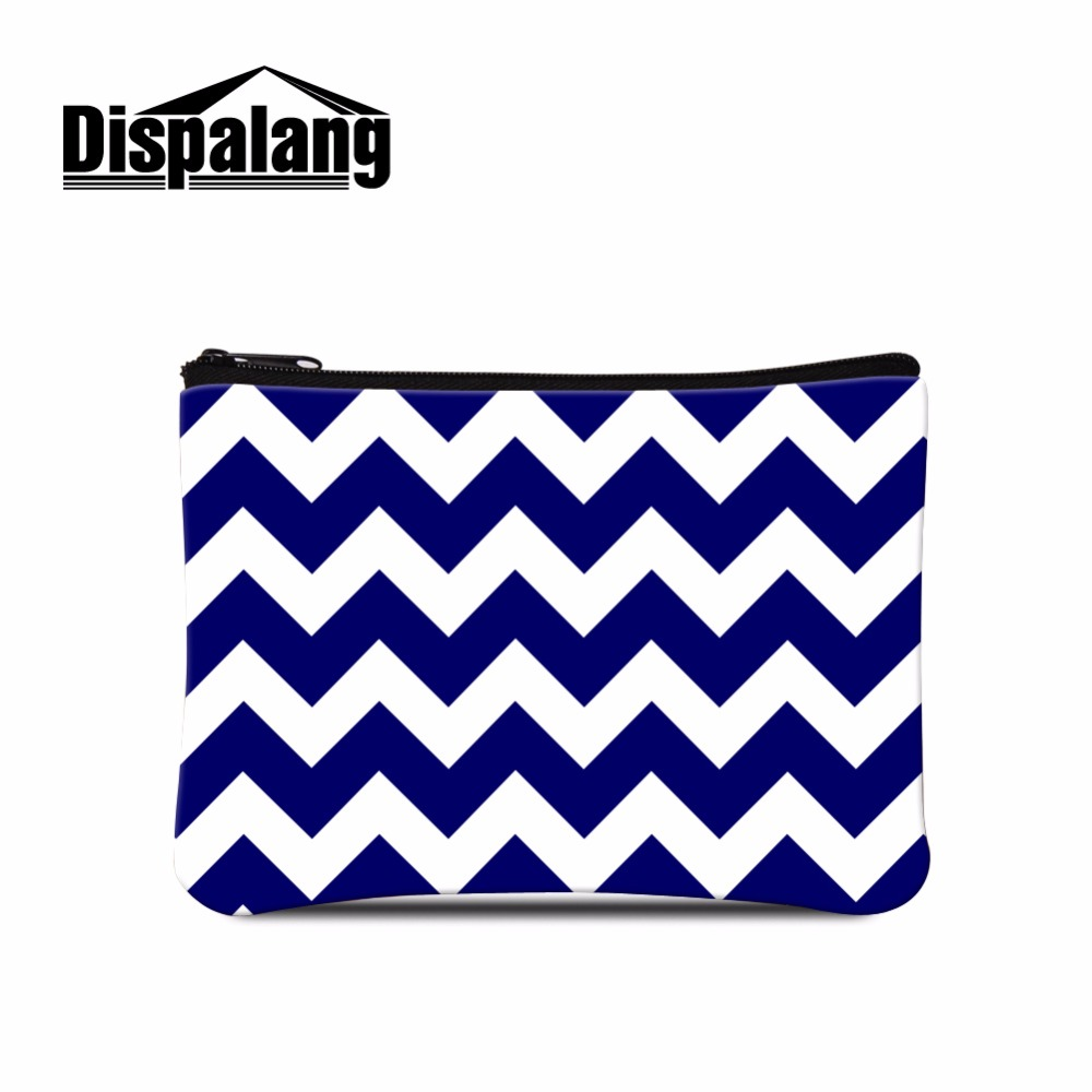 Chevron Womens Purse Wallets Ladies Striped Clutch Coin Purse Mini Bags with Zipper For Women Shopping Coin bags for Girls
