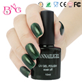 Beautygaga Emerald Green Glitter Color #76 UV Gel Varnishes Nail Polish Soak Off 10ml Long Lasting Nail Art Manicure Maquiagem