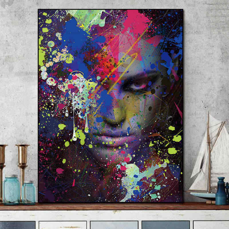 picture wall canvas art Painting Pictures abstract painting art  prints figures on canvas home decoration for living room wall