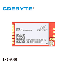 2Pc/Lot CDEBYTE E64-T100S2 433MHz 1500m Wireless Transceiver rf Module UART Low Consumption Data Receiver rf Module Wifi Antenna цены