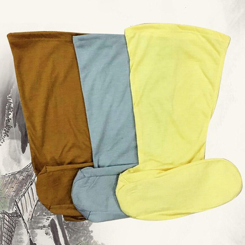 USHINE Grey Yellow Coffee Cotton Socks Monk Socks Martial Arts Performance Accessories ShaoLin KungFu Sworn Socks For Adult