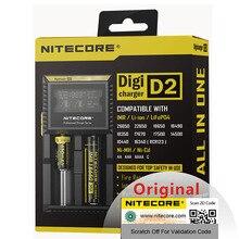 Ban đầu Nitecore D2 Pin Sạc LCD Sạc Thông Minh cho 18650 14500 16340 26650 MỘT AA AAA Pin 12V h15