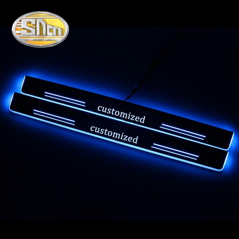 4 pièces mobile LED bienvenue pédale voiture seuil de pédale seuil porte seuil voie lumière pour Lexus RX300 RX330 RX350