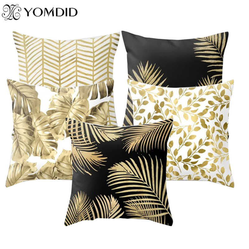 1Pcs Leaves Pattern Polyester Throw Pillow Cushion Cover Car Home Decor Sofa Bed Decorative Pillowcase Geometric Cushion Cover