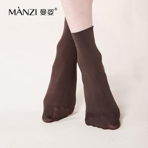 Image 3 - Женские нескользящие бархатные короткие носки с бамбуковым углем MZ42001, 100D, дезодорирующее дышащее волокно из бамбука, носки, 6 пар/лот