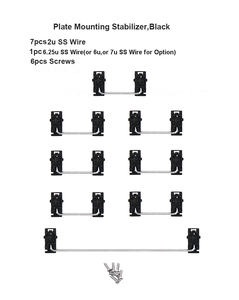 NPKC Keycap Stabilizers Cherry Style for Plate Mounting PCB Mounting for Cherry MX Switches Mechanical Keyboards 2u 6u 6.25u 7u(China)
