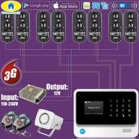 Золотой безопасности G90B 3g GSM WI FI 100 м проводной периметр инфракрасный ИК двухлучевой барьер Системы дома охранной сигнализации Системы