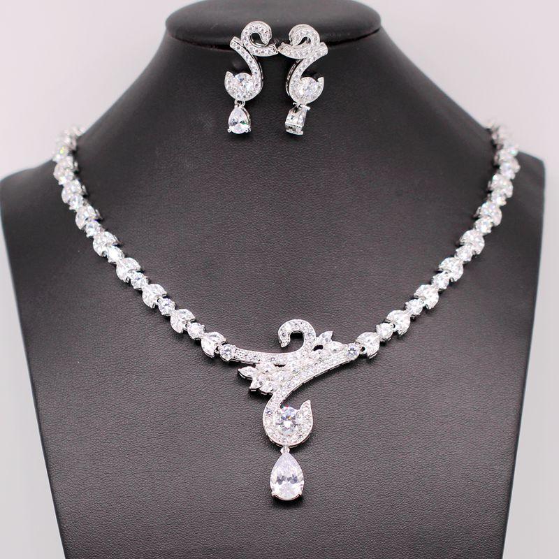 GZJY Elegant Fashion Jewelry Sets Gold Color Zirconia Crystal Wedding Jewelry Sets African Jewelry Set Necklace Earrings GZJY Elegant Fashion Jewelry Sets Gold Color Zirconia Crystal Wedding Jewelry Sets African Jewelry Set Necklace Earrings