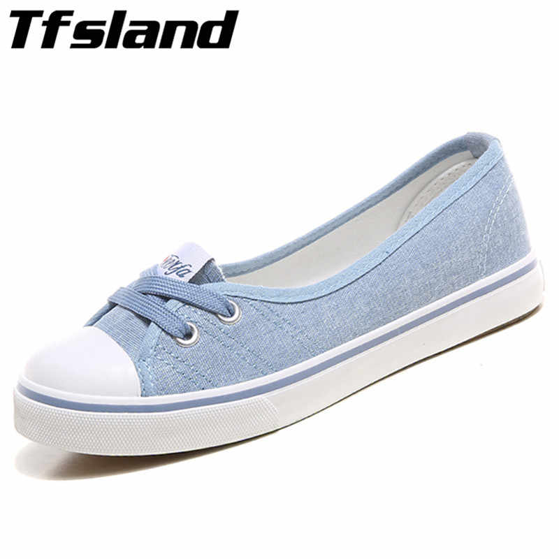 Tfsland Women Light Canvas Shoes Female Slip-on Korean Tide Students Set Foot Pedal Flat Shoe Candy Color Walking Shoes Sneakers