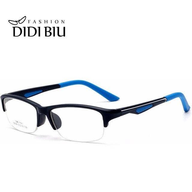 09061a6645a DIDI Korea TR90 Titanium Clear Eyeglasses Women Men Rectangle Semi Rimless  Glasses Acetate Optical Prescription Frames U568