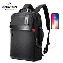 BOPAI High School School Backpack Bag for Boys Oxford Waterproof School Bag for Teenagers Large Male Schoolbag Backpacks