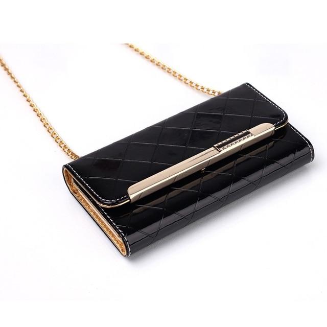 Para Tampa Do Telefone Brilhante Apple7 Diagonal PU Estojo De Couro Bolsa de Ombro estilo para o iphone 7 4.7 polegadas saco do telefone celular para iphone7
