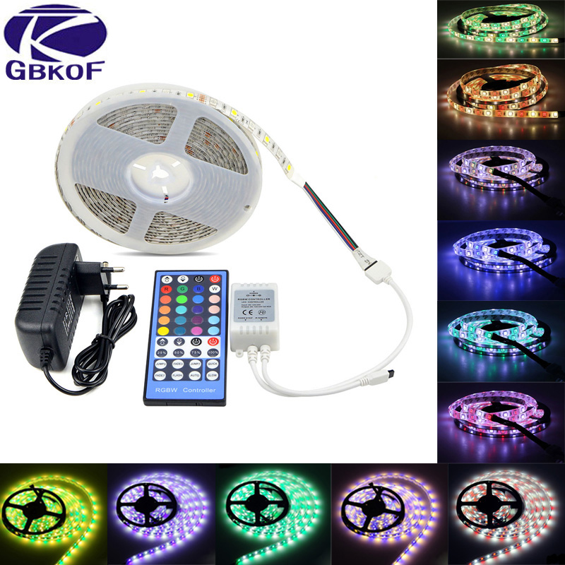 RGB DC 12V LED Strip Light waterproof 10M 5M RGBW RGBWW 5050 60LEDs/M SMD Neon Tape led strip ribbon diode Wifi Controller Set 15m led strip set rgb smd 5050 led strip tape light waterproof 450leds wifi 24key controller 12v 78w powersupply diy color