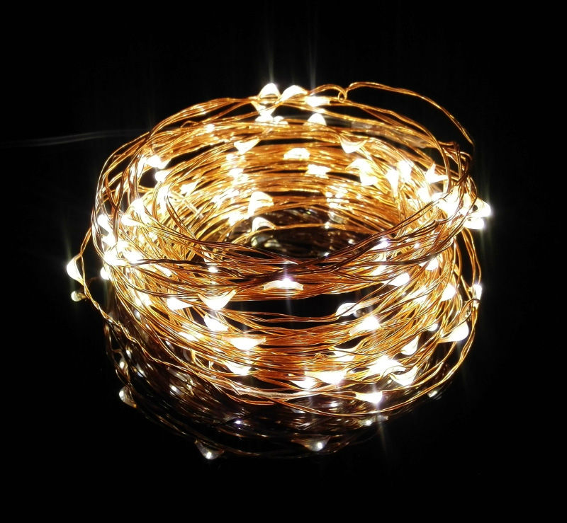 50x Wholesale discount price 10m 100 dimmable led ultra thin copper ...