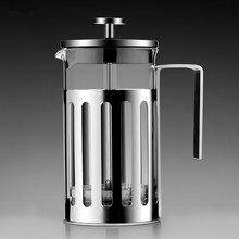 Французский заварник для чая кофе фильтр кофейник домашний чайник из нержавеющей стали ручной пробойник портативный чайник