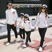 2018 family look girls boys clothing sets women men jacket/coat+ pants matching mother and daughter clothes father son outfits