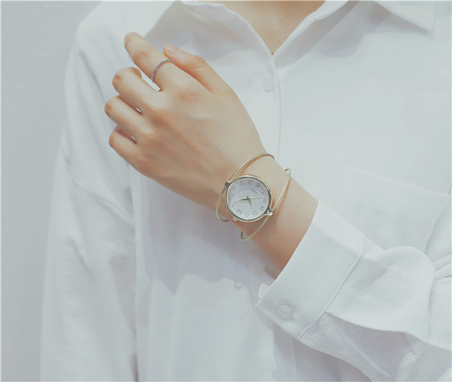 Original simple white classic casual fashion quartz watch ladies watch female watch