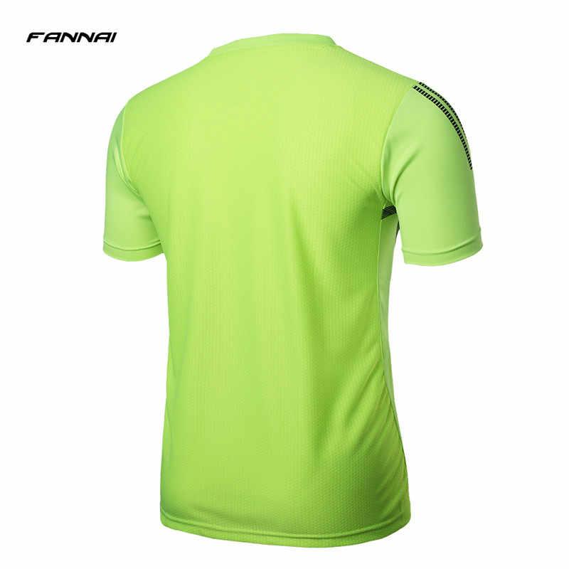 FANNAI ブランドメンズテニスシャツ屋外ランニングスポーツトレーニング服バドミントン男性 tシャツ卓球の服 tシャツトップス