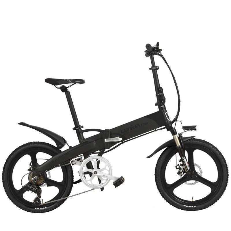 20 zoll Klapp Fahrrad, Integrierte Magnesium Legierung Felge, Klapp Elektrische Mountainbike, 5 Grade Unterstützen, suspension Gabel