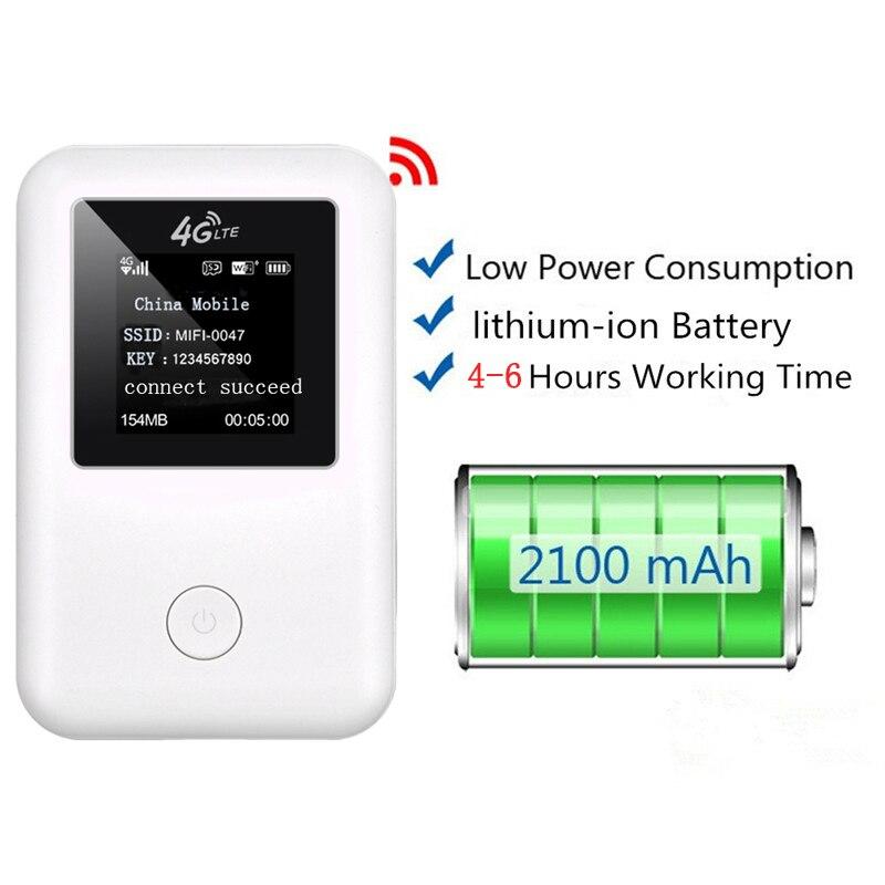 4G LTE Wifi routeur 150 Mbps Mobile sans fil Hotspot voiture Mifi déverrouiller Modem haut débit Dongle 3G 4G Wifi routeur avec fente pour carte Sim - 3