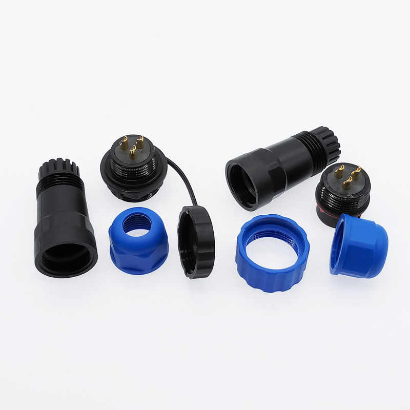 SP20 straight waterproof connector 1/2/3/4/5/6/7/9/10/12/14Pin IP68 Industrial power Male plug and Female socket