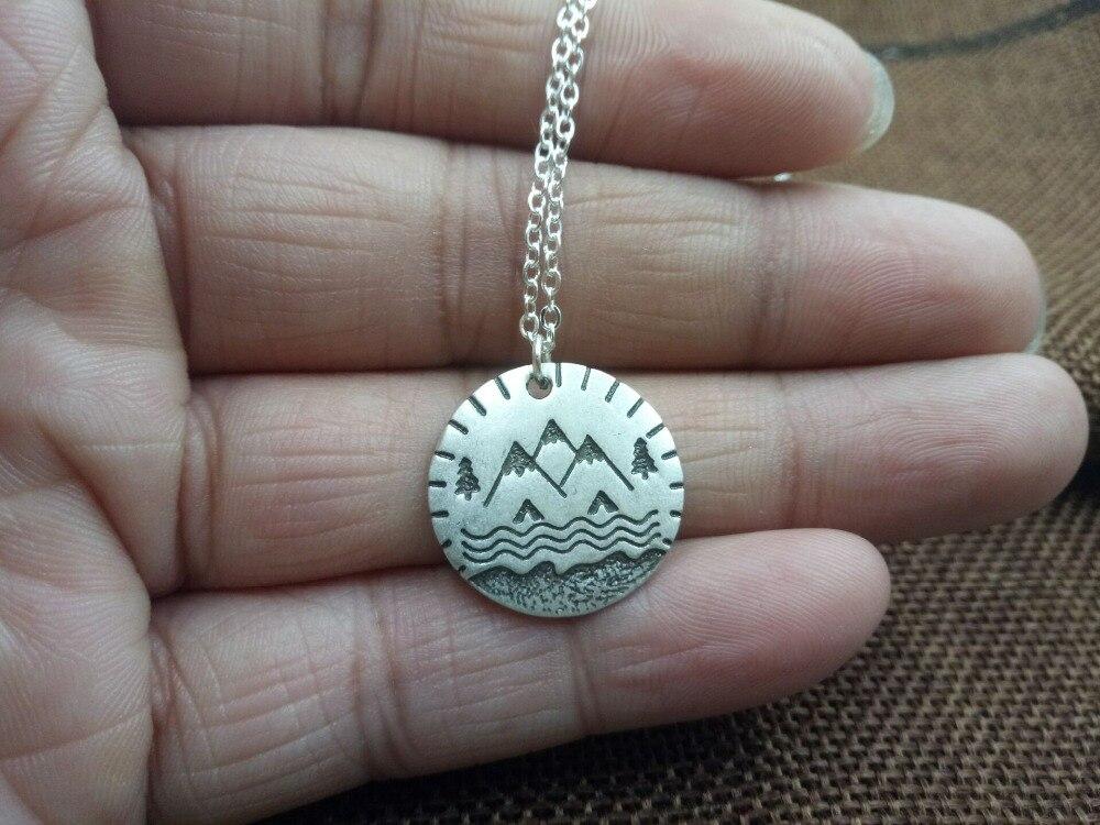 SanLan 1 шт. солнце поднимется, и мы постараемся снова вдохновляющее ожерелье Женские целебные ювелирные изделия лучший друг подарок