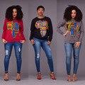 2017 Горячие Продажа Экзотические дизайнер повседневная кофты полный рукав женщин футболка новинка пуловер печати толстовки J1154