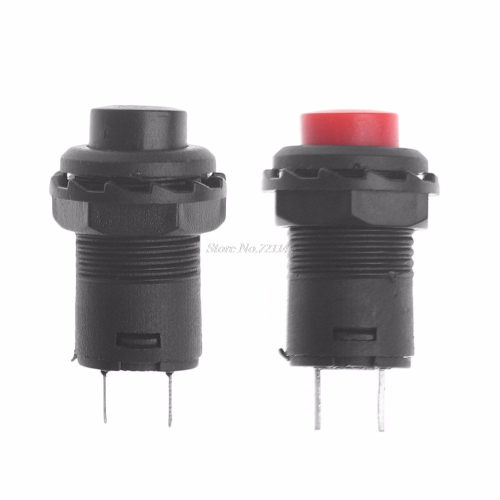 5Pcs/Set Mini DS-425A Self-Locking SPST Push Button Switch 1.5A 250V/3A 125V Button Switch