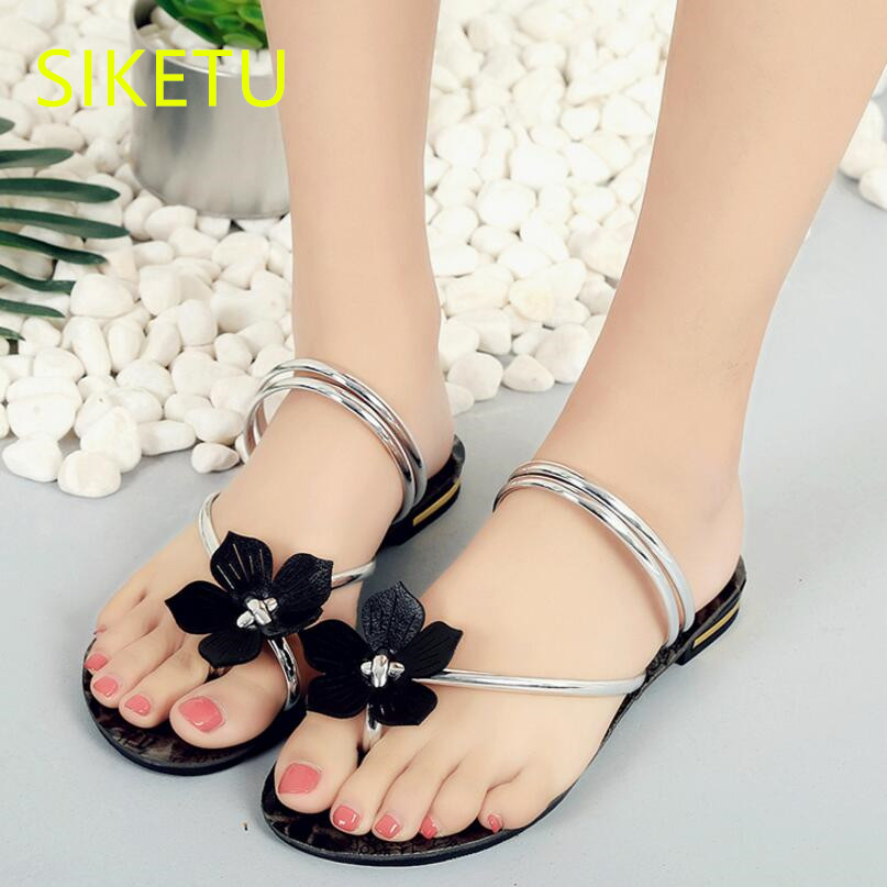 SIKETU Free shipping Summer sandals Fashion casual shoes sex women shoes flip flop Flat shoes Flats l063 flip flop SEX Simple women shoes 2018 summer breathable fashion lady s casual shoes lace up girls handmade women woven shoes flip flop footwear 599w