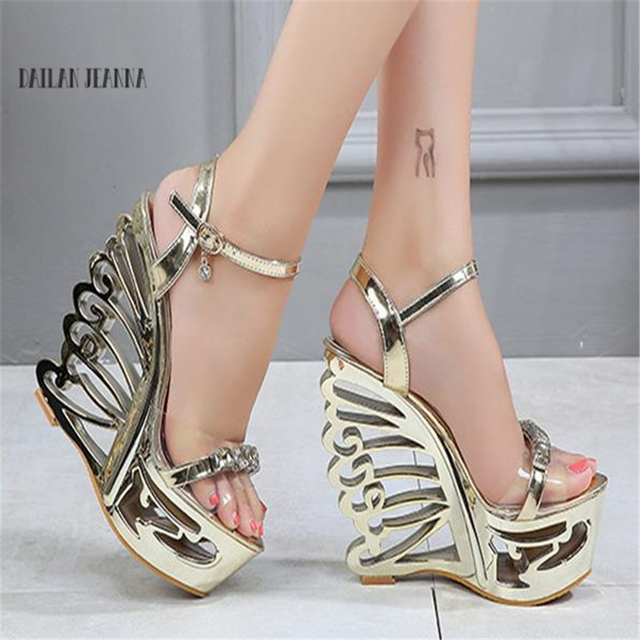 1893823e1f7e Summer Poe fish mouth water-proof platform high-heeled sandals women 2018 new  sexy special-shaped night field high-heeled shoes