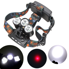 Super Bright 5000 Lumen 3 LED 4 Modes Cycling Headlight Headlamp Flashlight for Night Riding Hiking Fishing Camping Running