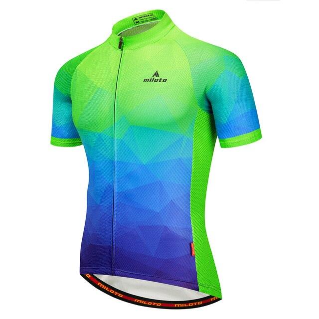 d979eb572 MILOTO 2018 Cycling Jersey Tops Summer Racing Cycling Clothing Ropa  Ciclismo Short Sleeve mtb Bike Jersey Shirt Maillot Ciclismo