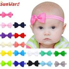 Ободки оголовье диапазон повязка бантом многоцветный цветочные девочка новорожденных милый ребенка